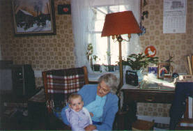 Kathy Kalloch with great-grandmother Mabel