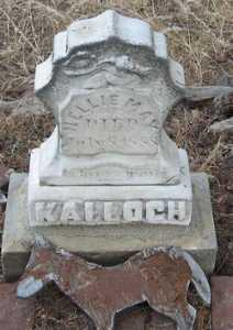 Nellie May Kalloch gravestone