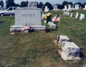 Sherer stones at Achorn Cemetery