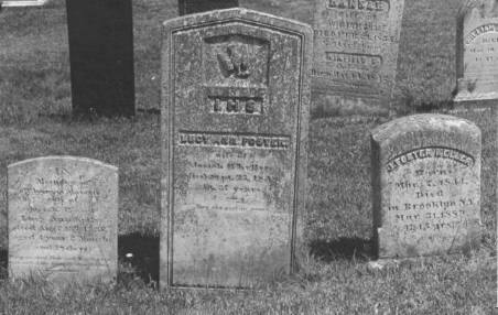 Thomas, Lucy Ann and J. Foster Keller gravestones